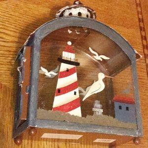 Other - Beachy Shadow Box Tea Light Holder